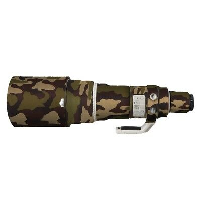 Waterproof Rubber Camera Lens Protective Coat Cover Camo Fr Canon 600MM F4 IS II