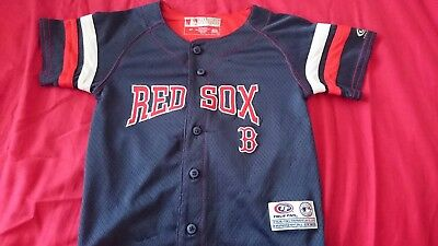 NBL Boston Red Sox True Fan child's  Jersey Size T4