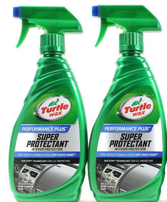 2 Bottles Turtle Wax Performance Plus Super Protectant Interior Non Greasy 16 oz
