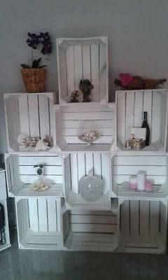 8er paket neue geflammte obstkisten weinkisten apfelkisten. Black Bedroom Furniture Sets. Home Design Ideas