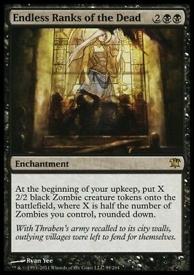 MTG 1x ENDLESS RANKS OF THE DEAD - Innistrad *Rare Enchantment Zombie NM*