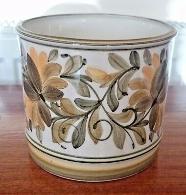 Vintage Hand Painted Jersey Pottery C.L. Glazed Holder Pot Container