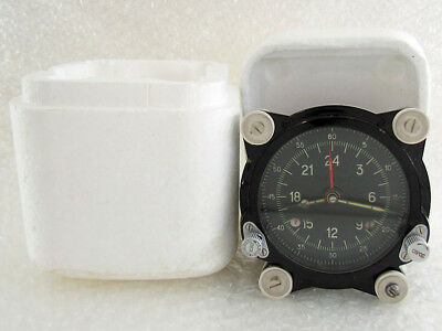 129-ChS 55M Vintage Russian Aircraft TU-134 MIG HELICOPTER MI-9 Panel Clock EXC!