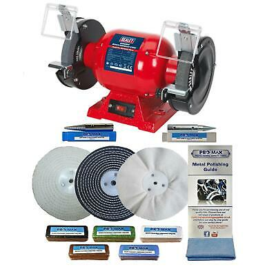 "6"" Bench Grinder 370W And 6"" Metal Polishing Kit Machine - Pro-Max"