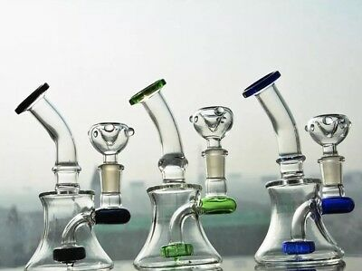 Mini Glass Water Pipe Dab Pipe Tyre Perc Recycler Pipe Bubbler Bong Rig