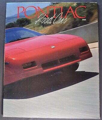 1988 Pontiac Brochure Folder Firebird Trans Am Fiero Bonneville Grand Prix 6000