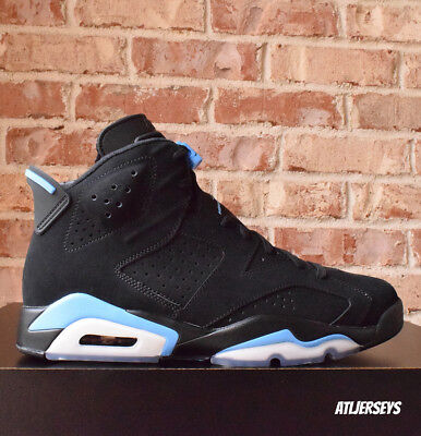 d783bc4f3502 2017 NIKE AIR Jordan 6 VI Retro UNC Black University Blue 384664-006 ...