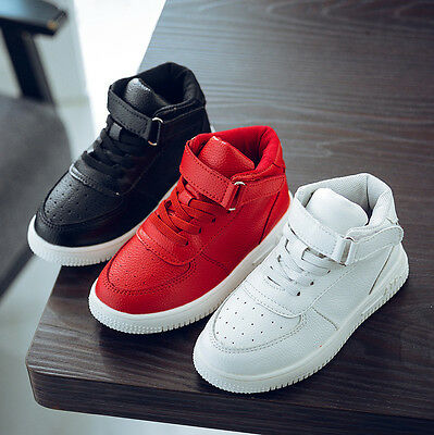 Kids Boys Girls Sneakers Running Leather Sports Shoes Brethable Comfort Sneakers