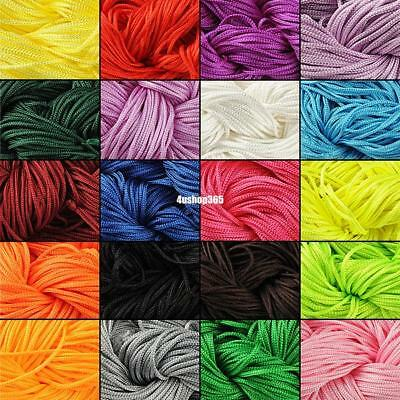 Nylon Cord Thread Chinese Knot Macrame Rattail Bracelet Braided String Roll 1Mm