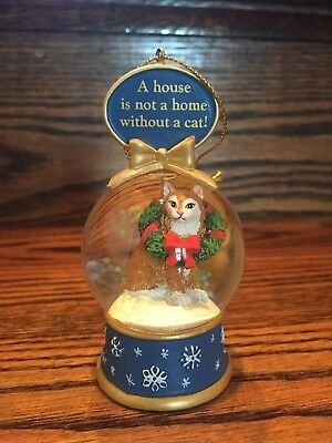 Danbury Mint Kitty Cat Snow Globe Collectible XMas Ornaments (various available)