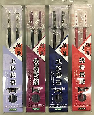 KOTOBUKIYA samurai chopsticks LOT OF 4 uesugi, chosokabe, hijikata, azai NEW