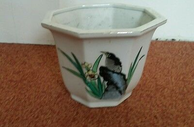 hand painted chinese porcelain plant pot