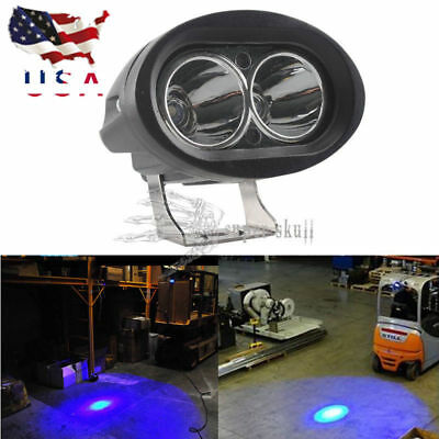 Blue Forklift LED light Warehouse Safety Warning Lamp Spot offroad race US