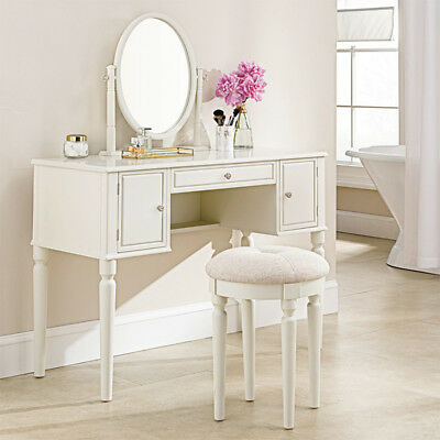 Royal Bedroom Dresser With Mirror and Stool Makeup Vanity Wooden Dressing set
