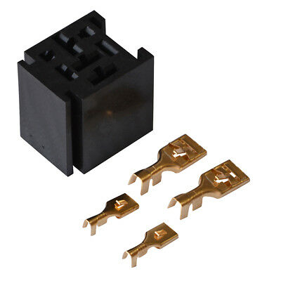 1 Set 80A Relay Connector 4-Pin Mounting Socket w/ 4 Terminals Base Holder SPST