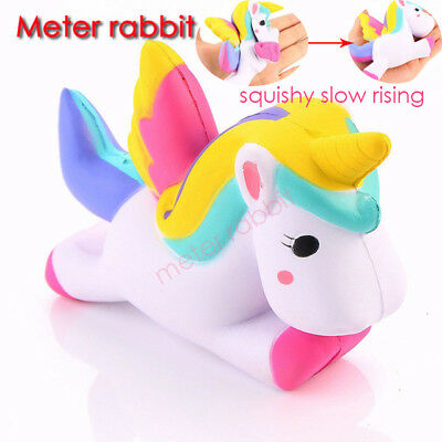 Jumbo Slow Rising Squishies Unicorn Scented Soft Squishy Doll Toys 3 Style Lot
