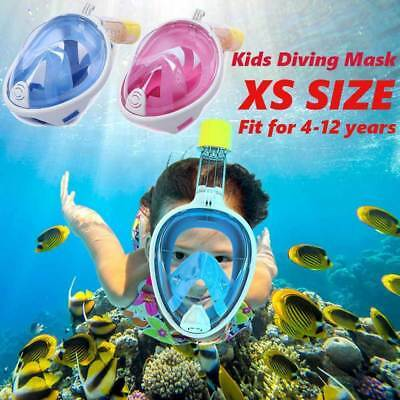 XS Breath Full Face Mask Surface Diving Snorkel Scuba Swimming Tool Fr Kids wow