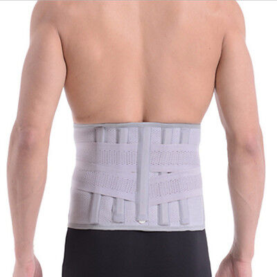 Breathable Lower Back Support Double Pull Strap Lumbar Brace Posture Belt Unisex