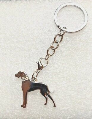 Great Dane Dog Silver Alloy Jewelry Bag Purse Charm Dangle Zipper Pull Key Chain