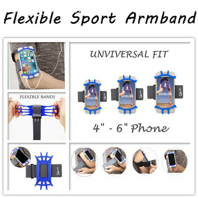 Outdoor Sport Running Gym Armband Flexible Arm Band Strap Apple iPhone Samsung