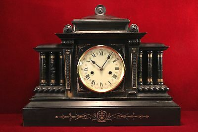 Antique Hamburg Company  Mantle Clock  Large