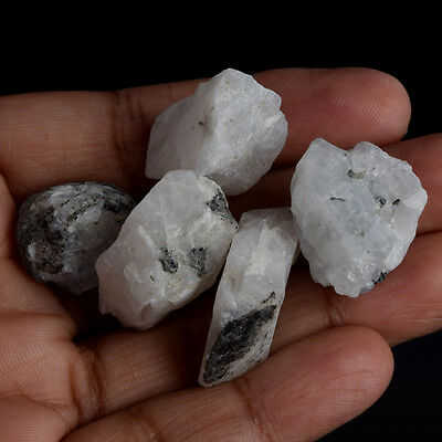 100% Natural 150 Ct. Egl Certified White Rainbow Roughs Loose Gemstone V-5656