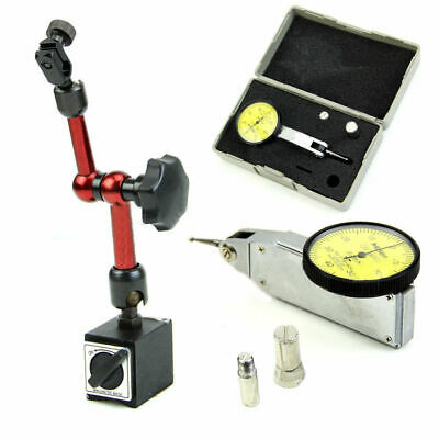 Universal Magnetic Base Holder Stand + Scale Precision Dial Test Indicator Gauge