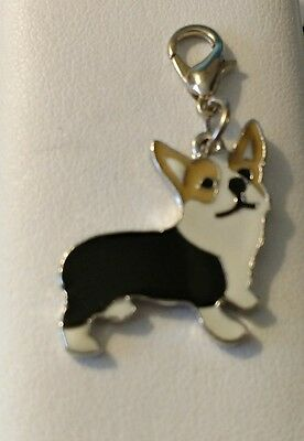 Black and Tan Corgi Dog Pup Bag Purse Charm Dangle Zipper Pull