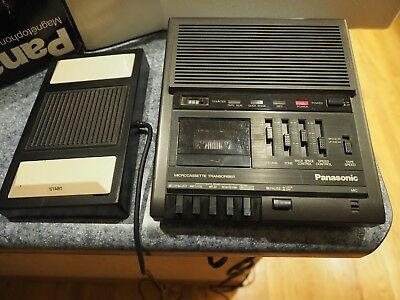 Panasonic RR-930 Microcassette Transcriber Recorder w/Foot Pedal NICE IN BOX