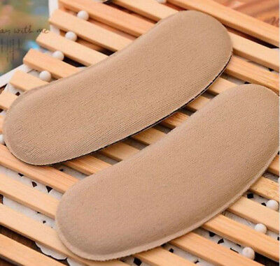 5 Pairs Gel Fabric Heel Grip Back Liner Shoe Insole Pad Foot Care Protector