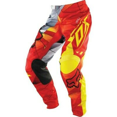 Kids 180 Fox Radeon Mx Pants  Red Yellow Size 5