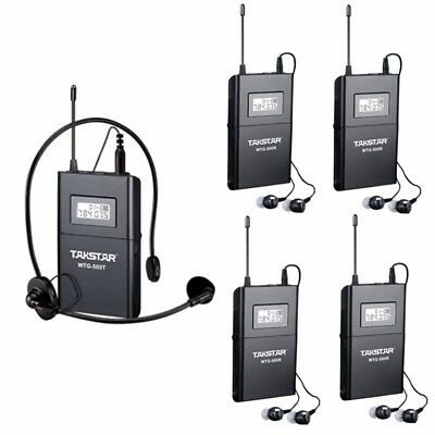 Takstar WTG-500 Tour Guide Teaching Wireless System 1 Transmitter 10 Receivers