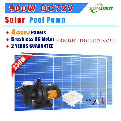 Solar Power DC Swimming Pool Pump system Max Flow:21m³/h, With 4x330W Panels