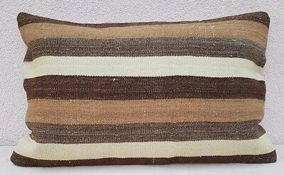 16x24'' French Decor Grainsack Kilim Pillow Cover,Burlap Pillow,Farmhouse Pillow
