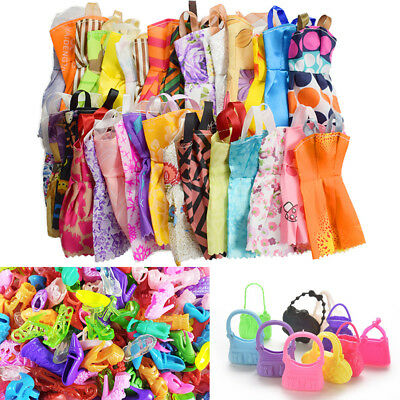 Hot Shoes Bag dress For Barbie Dolls Accessories Set for Barbie Toys girl Gift
