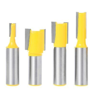 4pc 1//2 SH Undersized Dado for Plywood 1//4 3//4 Router Bit Set S 5//8 1//2