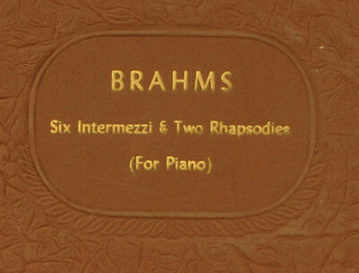 ARTUR RUBINSTEIN -PIANO- Brahms: Six Intermezzi & Two Rhapsodies   78rpm  A251