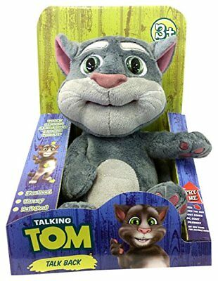 Repeating Talking Tom Animated Plush Stuffed Grey Funny  Cat Kids Christmas Gift