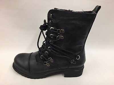 Brand New Boxed Women's Black Winter Ankle Boots Punk/Rocker/Biker Look UK 4