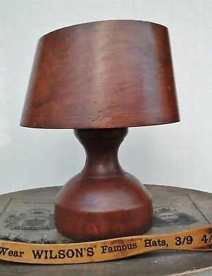 Charming Vintage Wooden Hat Block/Form + Stand, Ladies Millinery Percher Style.