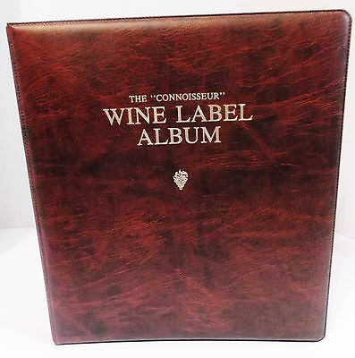 The Connoisseur 3-Ring WINE LABEL ALBUM Unused over 100 Pages Writewell