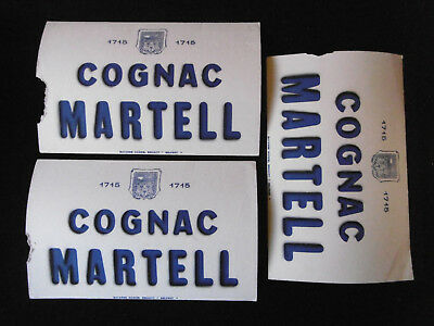 "Lot 4 Buvards publicitaires anciens ""COGNAC MARTELL"" Alcool, Old French blotter"