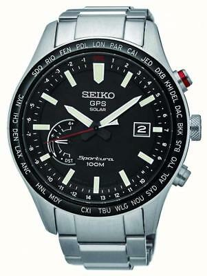 Seiko SSF003J1 Gents Solar GPS Sportura World Time Watch RRP £799