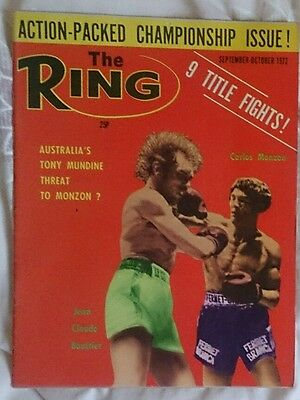 The Ring Boxing Magazine September October 1972 Monzon Bouttier