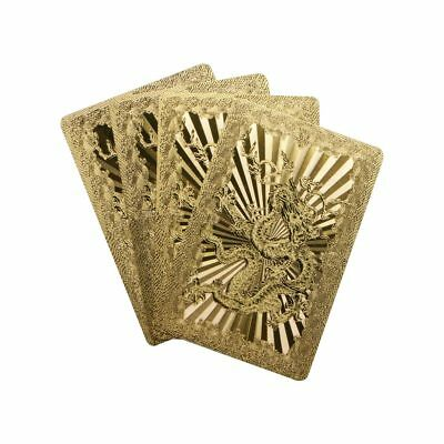 24K Waterproof Gold Foil Plated Pocker Deck Playing Card Joker Table Game NEW
