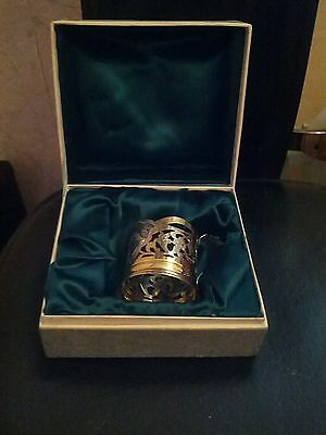 Russian Tea Cup Holder  Sterling Silver 875 in Original Box