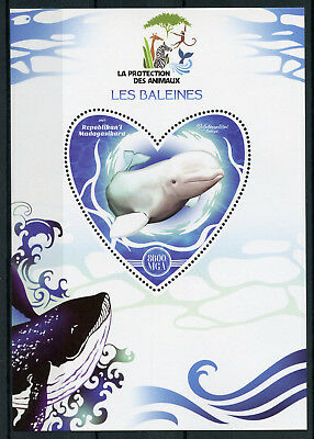 Madagascar 2017 MNH Whales 1v S/S Baleines Whale Marine Animals Stamps