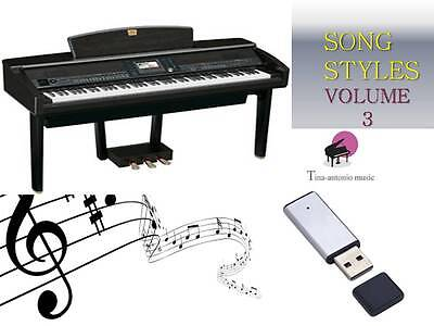 CLAVINOVA CVP 300 & 400 SERIES USB-Stick+AMAZING Song Styles VOLUME 3 NEW