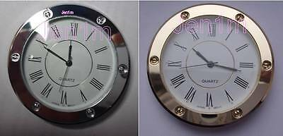 """56mm fit 50.5mm or 2"""" hole / Clock/Watch Insert 10% off addl/ free spare battery"""