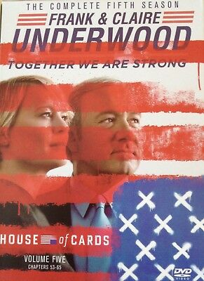 House of Cards: Season 5 (DVD, 2017) Kevin Spacey & Robin Wright FREE SHIPPING